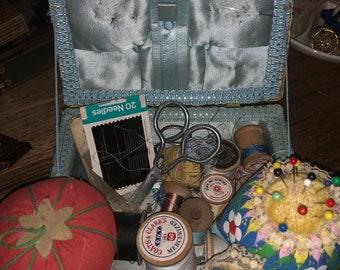 Vintage Sewing Box Filled!!