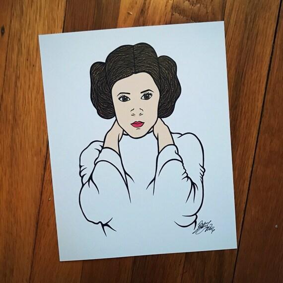 Zentangle - Princess Leia