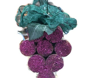 Recycled Cork Grape Ornament
