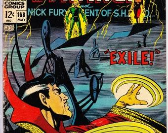 Strange Tales #168 (1st Series 1951-1976)  May 1968   Marvel Comics   Grade G