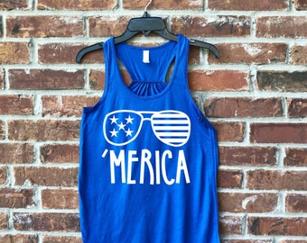 4th July, Merica, Merica Tank, Merica Shirt, Merica Adult, July 4th, July 4th outfit, Fourth of July, Ladies Merica, Fourth of July Tank