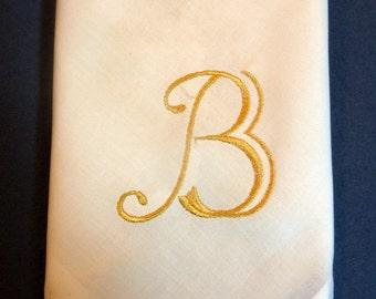 Monogrammed Napkins - Cloth Napkins - Set of 4 - Eco Friendly napkins - Wedding Napkins - Table Linens