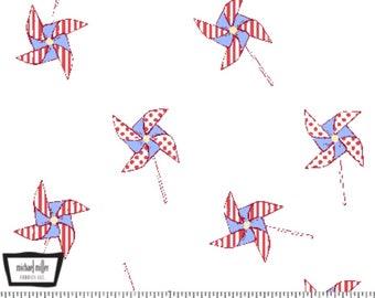 Pinwheels - White by Sarah Jane from Michael Miller