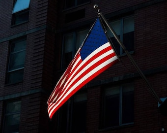 American Flag in Midtown