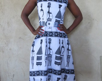 Zambian Print Fit and Flare