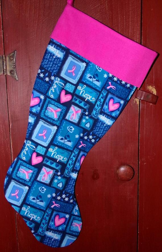 Breast Cancer Awareness Christmas Stocking