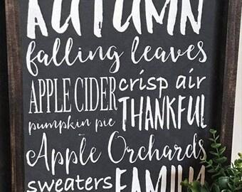 Autumn, Happy Fall, Fall Decor, Rustic Fall Sign, Apple Cider Sign, Farmhouse Fall, Thankful Fall Sign, Fixer Upper Decor