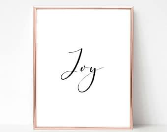 Joy, Christmas Printable, Christmas Print, Christmas Printable Wall Art, Christmas Printable Art, Christmas Printable Decoration, Decor