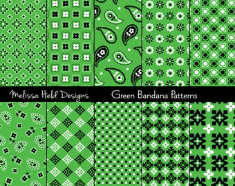 Green Bandana Patterns