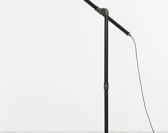 Floor lamp, Pipe torchere, Industrial floor lamp, standard-lamp, metal lamp shade, Industrial lamp, loft floor lamp, Iron pipe floor lamp