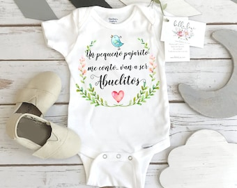 Spanish Pregnancy Reveal, Abuelitos, Baby Gift to Grandparents, Abuelos Reveal, Cute Baby Gift, Spanish Baby Reveal to Parents, Baby Reveal