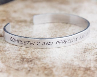 Completely And Perfectly And Incandescently Happy / Jane Austen Bracelet / Literary Jewelry / Pride and Prejudice Jewelry / Romantic Jewelry