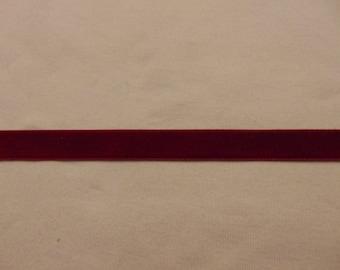 Velvet, dark red, sold by the yard (Ve-614) Ribbon