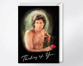 Thinking Of You - Jeff Goldblum Greeting Card - Valentine's Day Card - Thinking Of You Card - Just Because Card - Funny Greeting Card