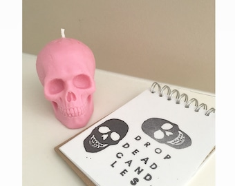 Small Skull Candle