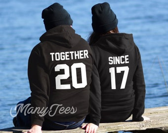 Together since hoodies couples hoodies couples sweatshirts couples outfits together since couples matching hoodies valentines day gift