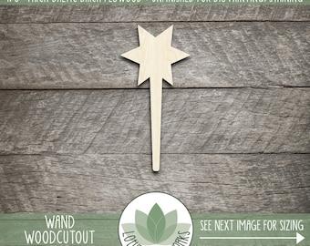 Wood Wand Shape, Unfinished Wood Wand Laser Cut Shape, DIY Craft Supply, Many Size Options, Blank Wood Shapes