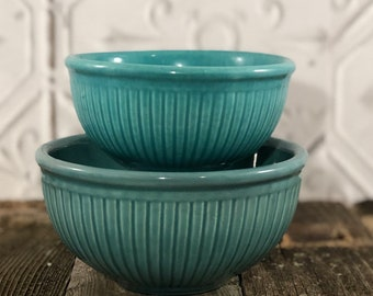 Red Wing Gypsy Trail Reed Pattern Nesting Bowls