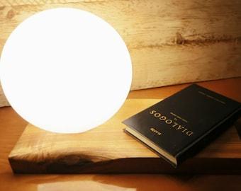 Sphere Lamp on wood
