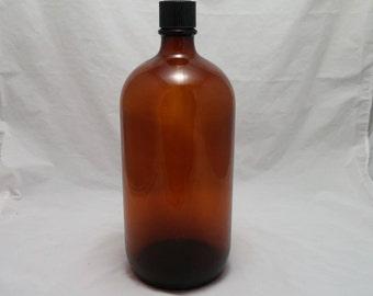 Vintage 1930s SHARP & DOHME Brown Chemists Druggists Bottle  - Bakelite cap, pristine condition, washed, ready for display