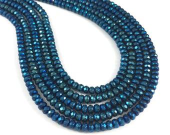 4*3mm Hematite Beads,Faceted Beads,Hematite Jewelry