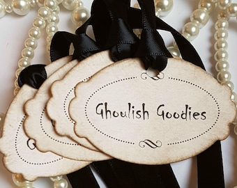 Halloween Tags, Halloween Wedding, Rustic Halloween, Candy Labels, Halloween Decorations,