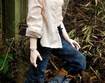 Iplehouse EID - Mandarin Collar Long Sleeved Shirt