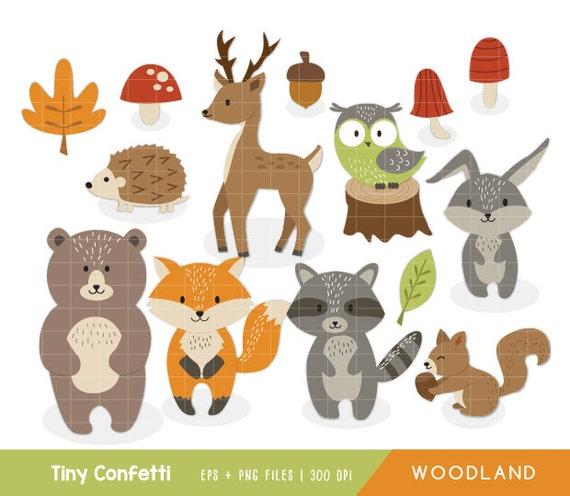 woodland clipart woodland animals clipart forest animals