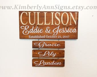 Family name sign, Last name sign, Personalized sign, Established sign, Name sign, Wood sign, Family established, Custom name sign, Family