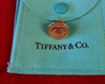 14 k  (.585) Yellow Gold Tiffany & Co Tie Tack /Lapel Pin  2.3 gm Gold Front Pin only  Without Back.
