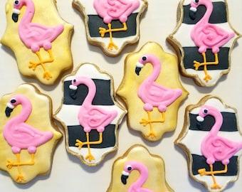 Flamingos cookies (12)