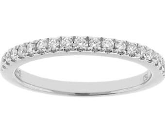 12248 Diamond Wedding Band - 18k White Gold Ring