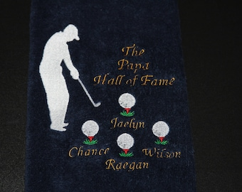 Personalized Golf Towel, Monogrammed Golf Towel, Father's Day Gifts, custom golf towel, golf gifts, golf clubs, golf accessories, golf towel