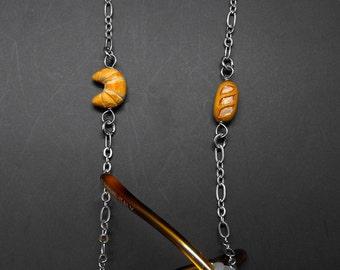 Cook's Baker Eyeglass Chain Croissant Baguette Chef Glasses Holder Eye Glass Lanyard