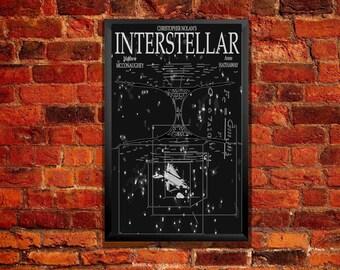Interstellar Movie Poster - Tesseract & Wormhole Illustration from ZanzibarLand