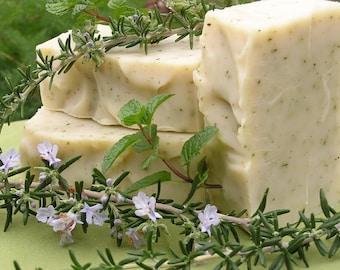 Rosemary Mint Soap, Natural Handmade Soap, Herbal Organic Soap, Essential Oil Soap