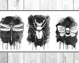 creepy creatures- Print  Poster
