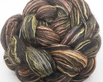 Hand painted fibre,  Alpaca, Mulberry Silk, Falklands, luxury fibre, combed top, felting projects, nuno, felting materials, spinning