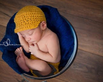 Newborn Baby Newsboy Cap - Newsboy Cap Photography Prop - Newborn Baby Shower Gift - Customized Colour Baby Cap -