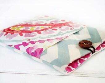 ipad sleeve, mini ipad cover, ipad air case,  iPad Cover Padded Pocket Case Sleeve Cases for ipad, ipad air, ipad pro in Raspberry Sorbet