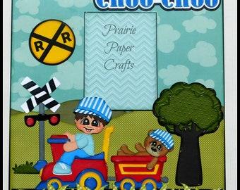 ChooChoo Cutie Single Page Scrapbook Layout