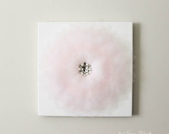 Nursery Decor, Pink and White, Baby Shower, Flower Canvas, Flower Nursery, Flower Nursery Decor, Wall Art, Home Decor, White Nursery