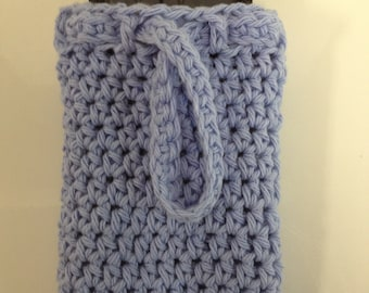 Handmade Crocheted Cell Phone Wristlet Cozy Cover