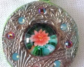 Lotus, Meditation, Spiritual, Mosaic Pendant, PA1-44