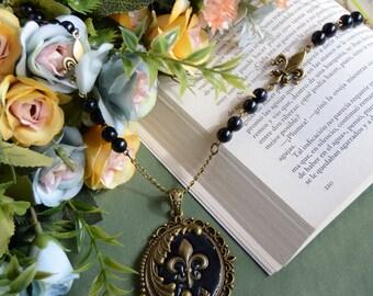 Fleur de lis necklace - lolita sweet fairy kei kawaii mori kei fashion