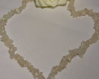 Vintage Moonstone Type Chip Bead Necklace