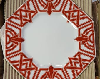 4 Salad Plates by Fitz and Floyd The Ritz Made in Japan Octagon Shape