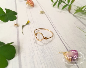 Karma, karma ring, gold ring, infinity ring, circle ring, handmade ring, made in Italy, brass jewelry, high quality, minimal ring