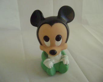 Vintage Micky Mouse, Walt Disney Babies, Squeak Toy, Squeeze Toy, Soft Plastic, 1984