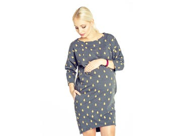 Pregnancy/ Maternity / Breastfeeding / Oversize 3/4 sleeve Dress / Nursing Dress